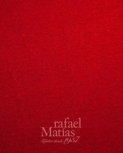 Lana cocida-roja. Rafael Matías Tejidos.