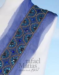 Cenefa organza azul