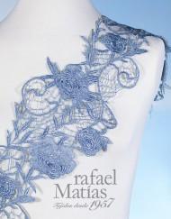 Pasamanería flor azul
