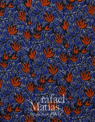 Algodón azul estampado tulipanes-