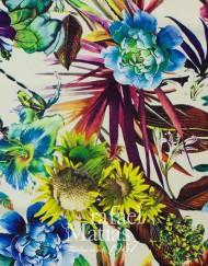 Viscosa estampada flores multicolor
