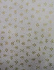 Popelín navidad blanco estrella dorada.