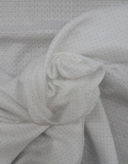 Gasa de algodón orgánico blanca con topitos 619505.