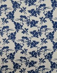 Sedeta blanca bordado azul 607057.
