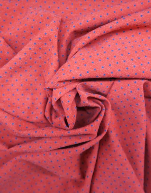 Tela chambray rojo estrellita marino 619493.
