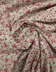 Tela popelín algodón florecita rosa
