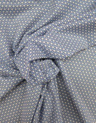 Tela popelín estampado corbatero azul