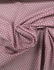 Tela popelín estampado corbatero rosa