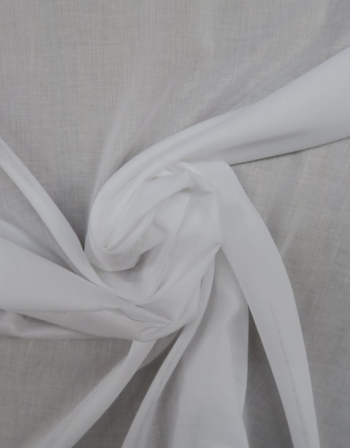 Tela Voile de algodón blanca 619508.
