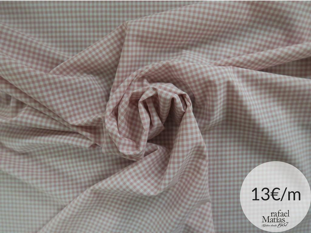 Ref 509.680 Tela vichy rosa nude.