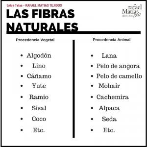 Las fibras naturales.