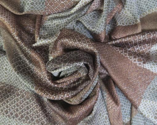 Tela sedeta estampado marrón