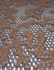 Retal cuero perforado marrón