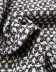 Retal lana grana gris rombos