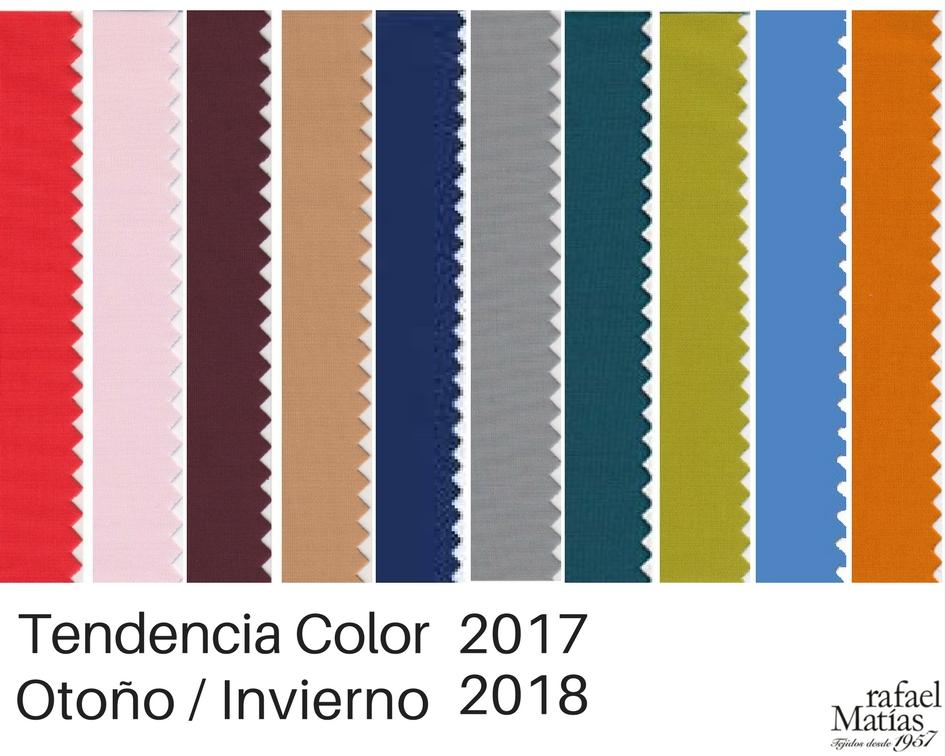 Los Colores tendencia Otoño Invierno 2017 / 2018