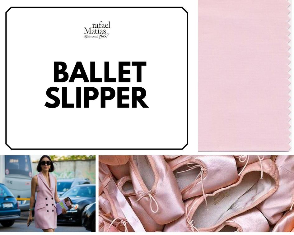 Ballet slipper. Color Tendencia Otoño Invierno 2017 / 2018