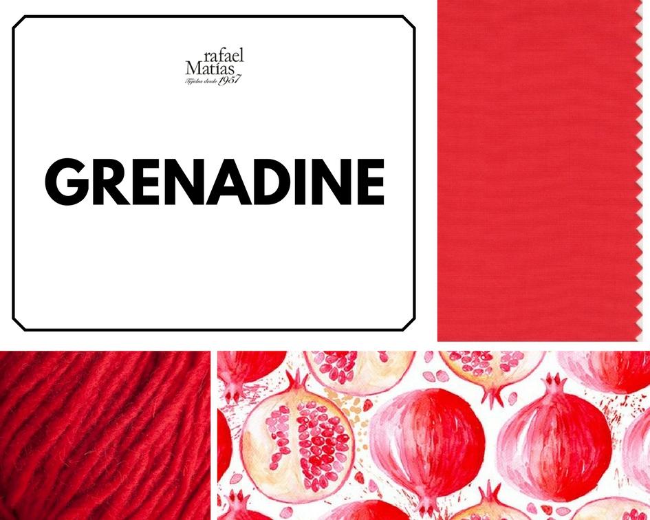 Grenadine. Color Tendencia Otoño Invierno 2017 / 2018
