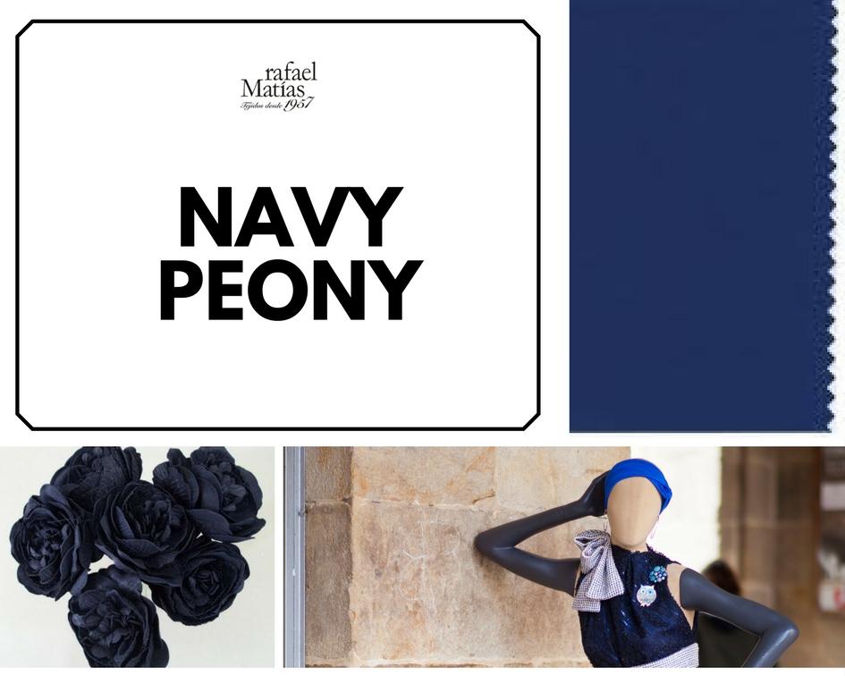 Navy peony. Color Tendencia Otoño Invierno 2017 / 2018