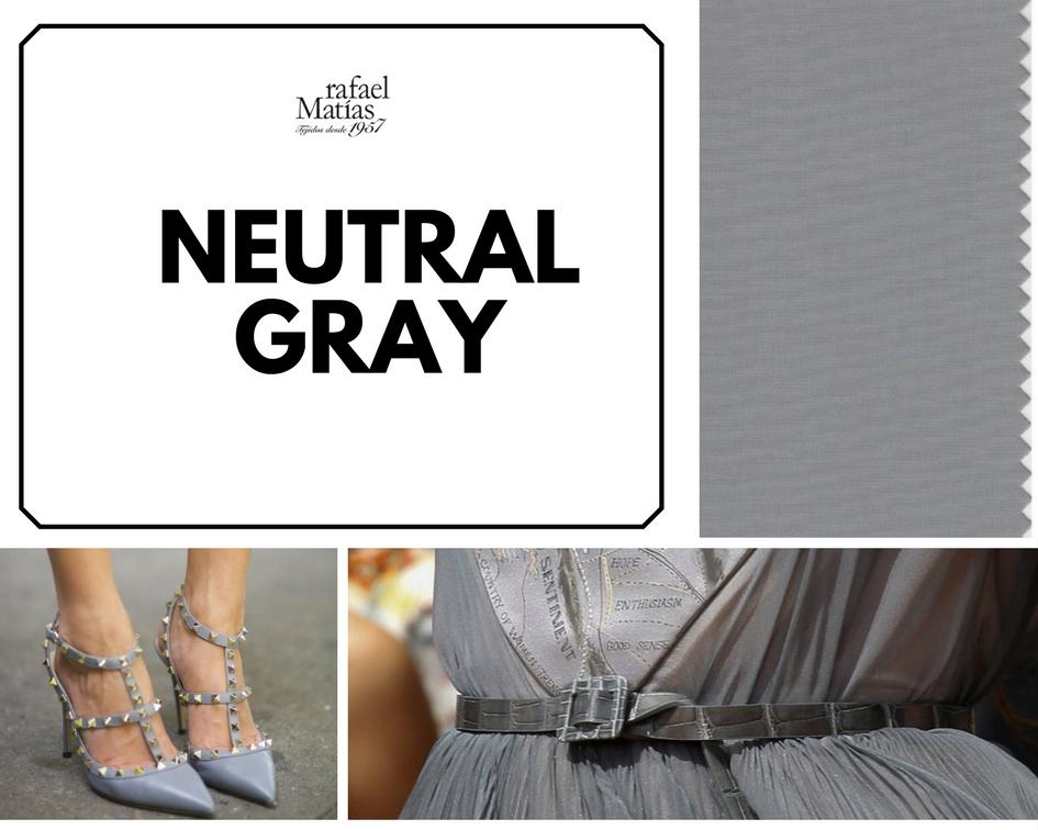 Neutral gray. Color Tendencia Otoño Invierno 2017 / 2018