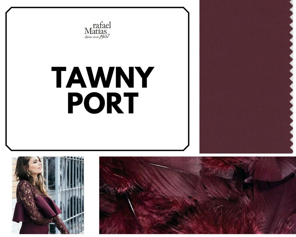 Tawny port. Color Tendencia Otoño Invierno 2017 / 2018