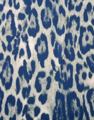 Tela neopreno leopardo azul
