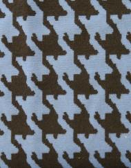 Tela pata de gallo grande azul