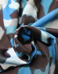 Tela punto camuflaje azul