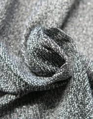 Tela punto jacquard negro plata