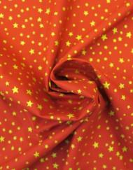 Tela navidad estrellas fondo rojo