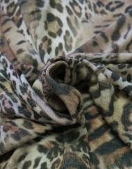 Tela punto estampado leopardo