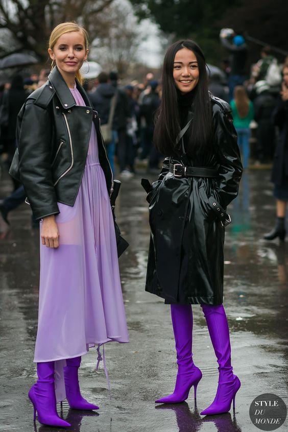 Botas altas color Ultra violet