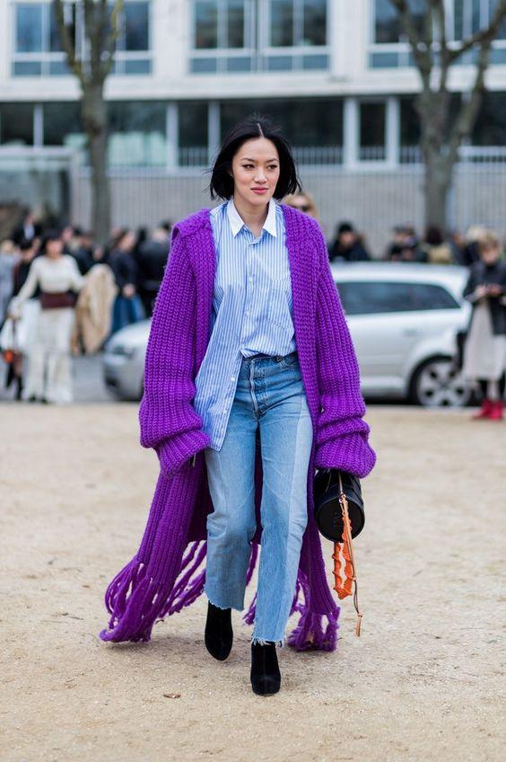 Abrigo color Ultra violet