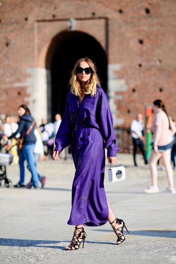 Vestido color Ultra violet