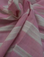 Tela pbatista rayas rosa