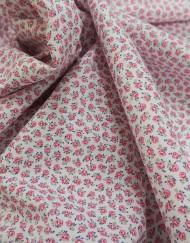Tela popelín estampado rosas rosa