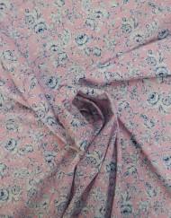 Tela popelín flor grande rosa