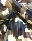 Tela vinilo estampado camuflaje