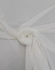 Tela bambula plumeti blanco