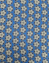 Tela charmeuse estampado geométrico azul
