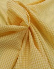 Tela vichy seersucker amarillo