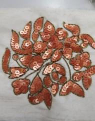 Complemento bordado rojo