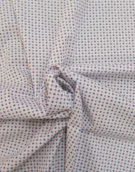 Tela algodon estampado corbatero blanco