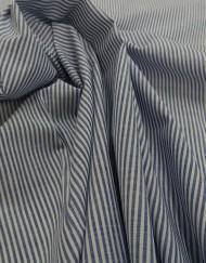 Tela algodón rayita azul