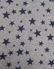 Tela chandal lurex estrellas gris