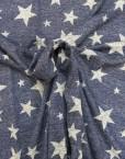Tela chandal lurex estrellas marino