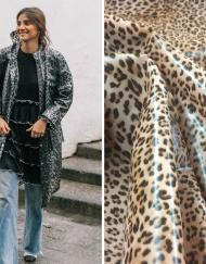 Tela vinilo estampado leopardo