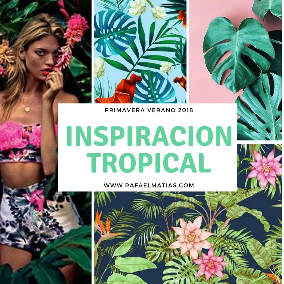 Estampado tropical. tendencia 2018. Rafael Matias Tejidos
