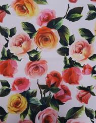 Tela neopreno estampado rosas