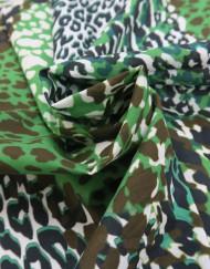 Tela twill estampado leopardo
