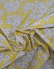 Tela popelín estampado amarillo